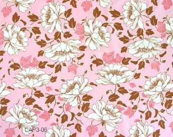 """Remnant 17""""x44"""" Amy Butler Fabric - Lotus -Peony Tree - Rosy, soft pink -100% High Quality Cotton"""