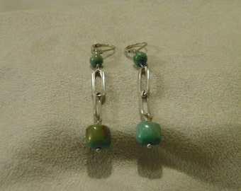 Sterling Silver Turquoise Bead Earrings
