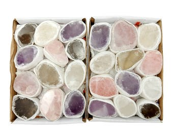 Ema Egg Window Stone Seer Stones Assorted Ema Stone Full Box Approx. 12 pieces - Mixed Ema Stone (RK191TS)