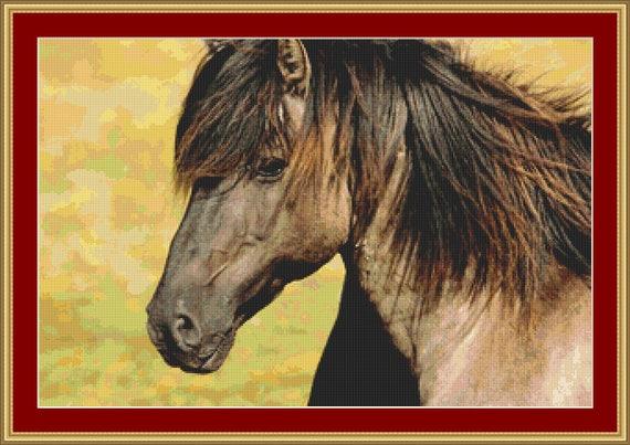 Horse Cross Stitch Pattern /Digital PDF Files /Instant downloadable