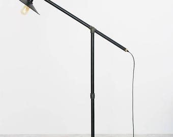 Loft floor lamp, Pipe torchere, Industrial floor lamp, standard-lamp, floor lamp, metal plate lamp shade, Industrial lamp, pipe floor lamp