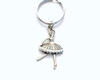 Ballet Keychain, Ballerina Key chain, Dance Keyring, Gift for Ballet Dancer, Purse planner charm birthday party favor little girl her teen
