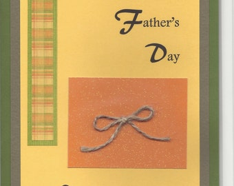 Handmade Greeting Card - Father's Day - Embellished