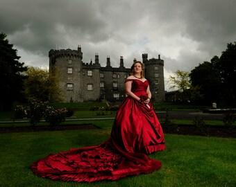 Gothic Wedding Dress Ball Gown