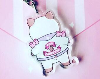 "Bee & Puppycat Poop Monster Acrylic Keychain 1.5"""