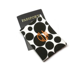 Monogrammed passport cover, personalized passport case, passport jacket, passport holder, passport wallet, personalized gift, traveler gift