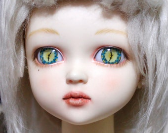 BJDs Acrylic Eyes - 18mm - Clock*Icy Flower*Pink snowflakes*Blue