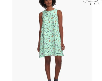 Science Dress Biology Dress Microbiology Dress Science Dress for Women Geeky Dress for Women Cute Geeky Dress Geek Dress for Women