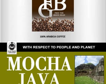 Fair Trade Organic MOCHA JAVA, African and Indonesian beans, 2oz SAMPLER