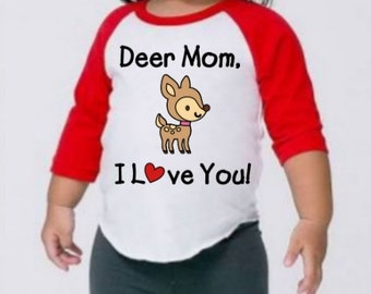 Deer Mom Toddler/Kid Shirt