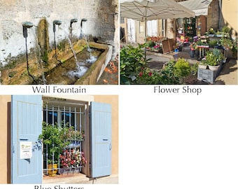 Markets of Provence 2 - 12x16 canvas photo print - choice of images