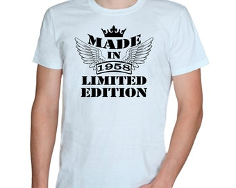 60th.birthday * Made in 1958 - Limited edition * Men's/Women's T-shirts