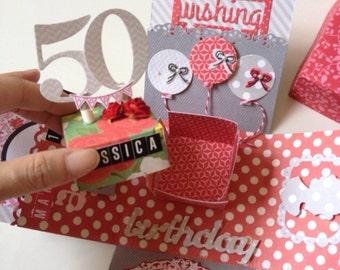 Custom birthday box card