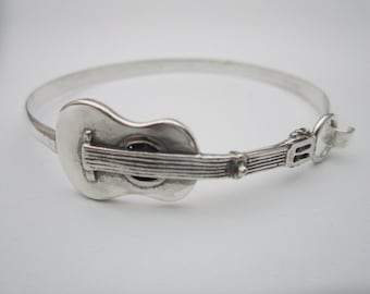 Bracelet Rigida Sterling Silver Guitar