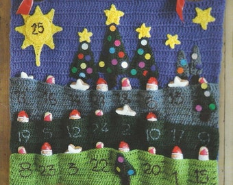 Crochet Advent Calendar PDF Pattern  Instant Download