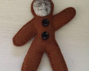 Bespoke Gingerbread People, Personalised Snowman Decoration, Bespoke, Personalised