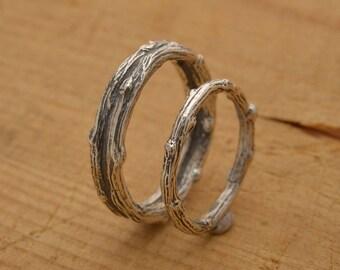 Twig wedding ring Etsy