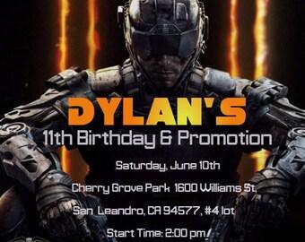 Call of duty party etsy call of duty birthday invitation filmwisefo