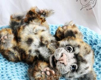 SOLD realistic leopard cub Teddy Bear friend wild cat OOAK leopard cub Thabo