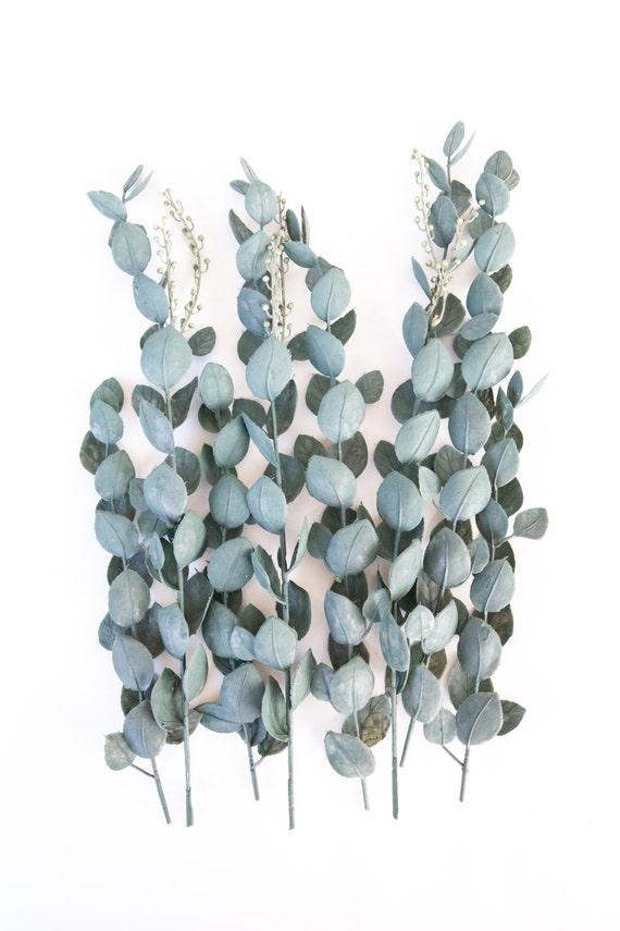 Popular 5 Artificial Eucalyptus Stems in Blue Green Artificial DJ25