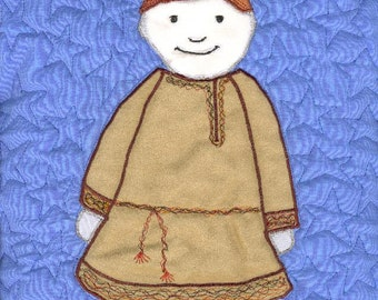 International Adoption Quilt Patterns - Russian Boy