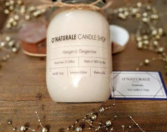 Mango & Tangerine Mason Jar Soy Candle