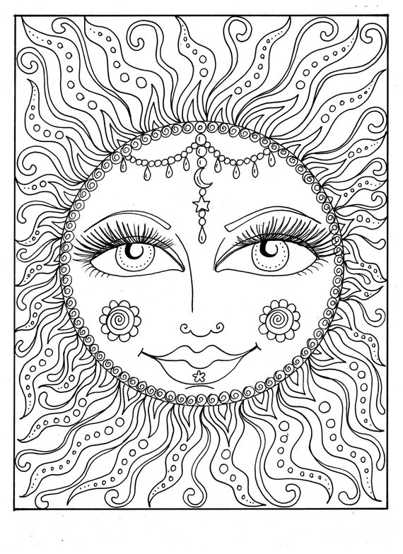 instant sun summer coloring page coloring page