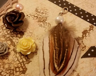 Feather sleutelhanger