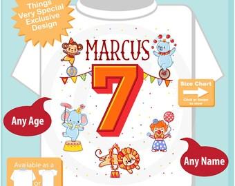 Circus 7th Birthday Shirt, Circus Themed 7th Birthday Shirt, Circus Seventh Birthday shirt for Circus Themed Birthday Party 04142017e