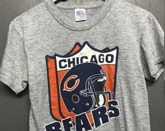 S vintage 80s heather grey Chicago Bears t shirt