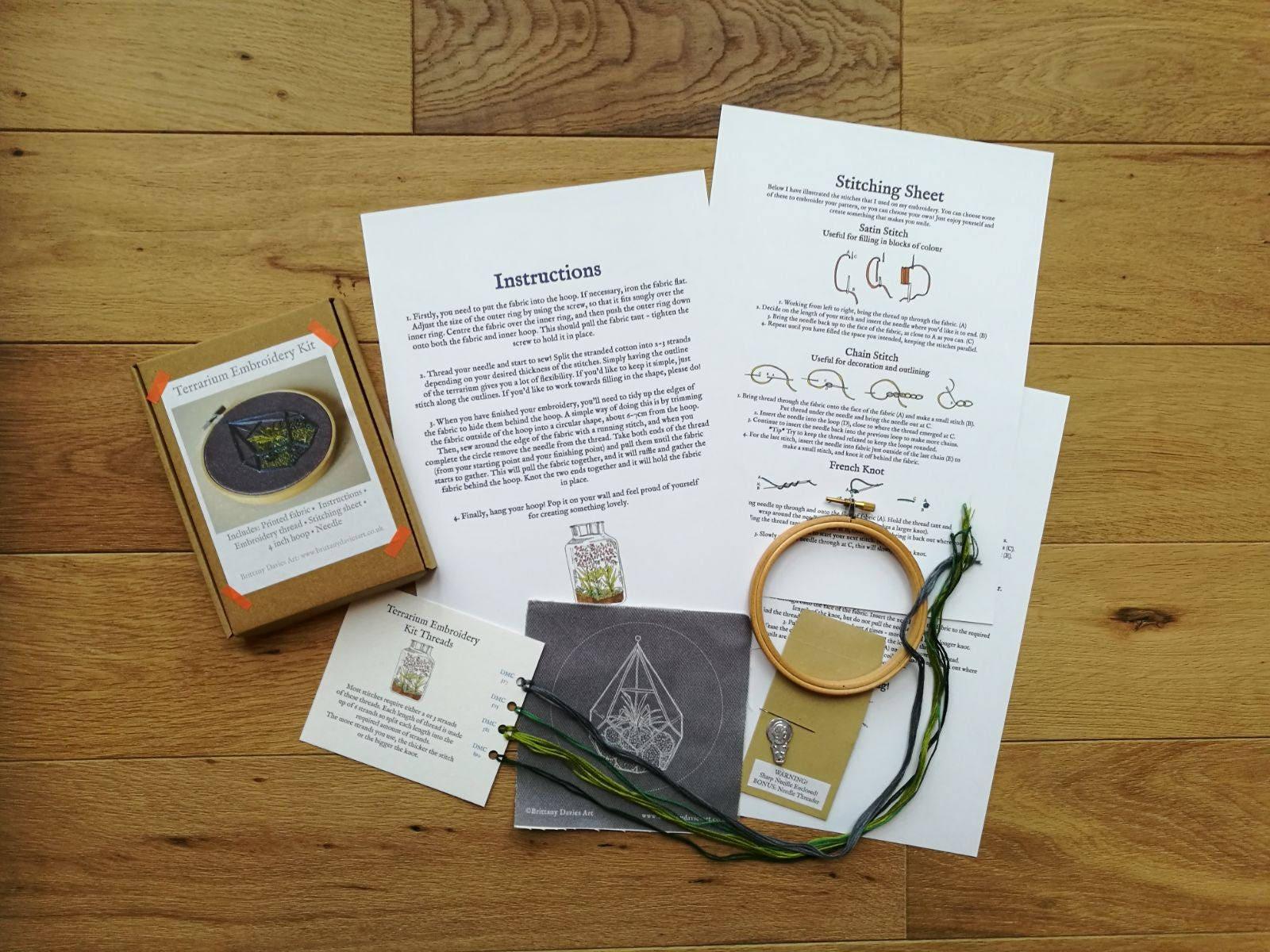 Terrarium embroidery kit craft kit diy gift cactus 1412 shipping solutioingenieria Gallery