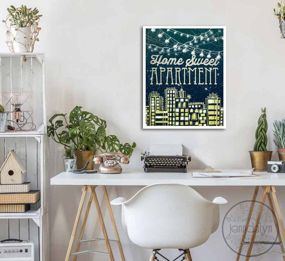 Home Sweet Apartment Print College Apartment Decor First