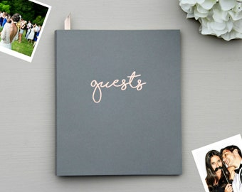 Fast Shipping > Photo Guest Book, Birthday Guest Book Wedding Guest Book, Flat-Lay Cardstock Softcover, Instant Photo Guestbook Wedding