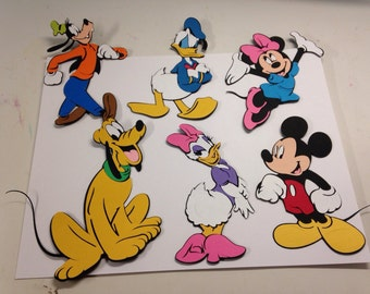 Set of 6 Mickey Mouse characters