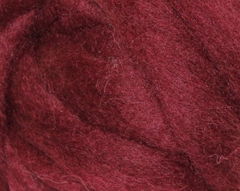 Wool Roving - 1oz - Maroon