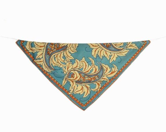 Vintage 60s Paisley Scarf by Vera Neumann / Floral Paisley Head Wrap / Handkerchief Bandana