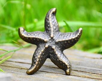 Octopus knob/Squid/Animal knob/large knob/silver knob/metallic/beach ...