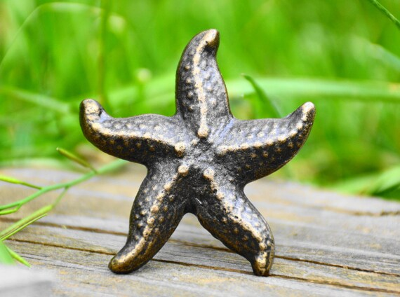 Cabinet Knob/starfish Knob/drawer Pull/cast Iron/metal/ocean/handle/door  Knob/animal/marine/beach/fish/bathroom/kitchen/childrens/decorative From ...