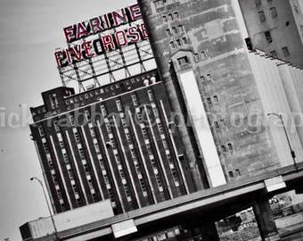 LAST COPY Montreal Photography Farine Five Roses Fine Art Photography Urban Architecture Black and White Modern Minimalist Montreal Landmark
