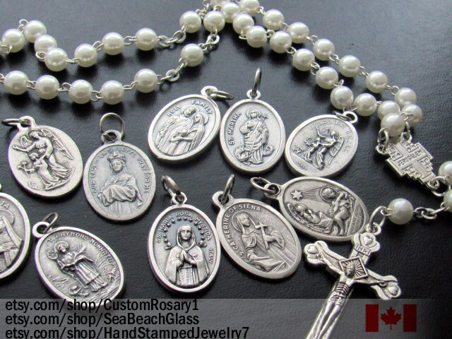 Saint medal charms wholesale patron saint catholic jewelry zoom aloadofball Choice Image