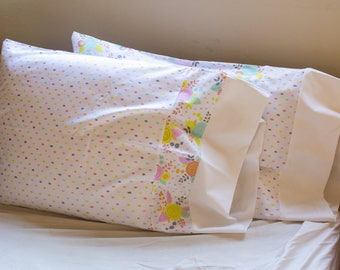 Set of Two Girl's Pillowcases