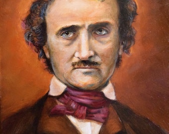 Edgar Allan Poe - Original Oil Painting