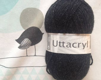 WOOL UTTACRYL charcoal - white horse