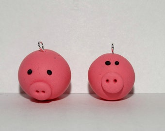 Chubby Pigs Polymer Charms