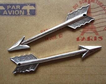 Steampunk silver arrow pendant