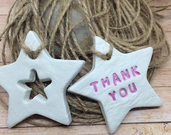 Handmade clay gift tags