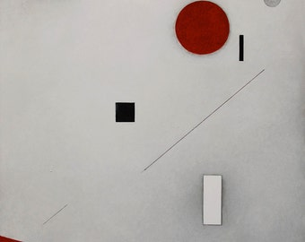 """Original abstract painting. Acrylic on canvas. Geometric forms. """"False warnings"""" series. Ready to ship. Free shipping."""