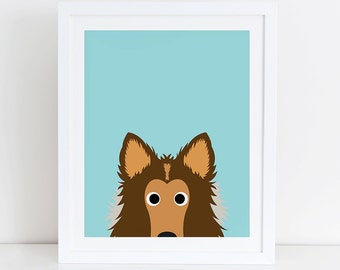 Collie Art Print, Instant Download,  Printable Home Decor, Digital Art Print, Collie Print, Collie Decor, Dog Wall Art, Collie Clipart