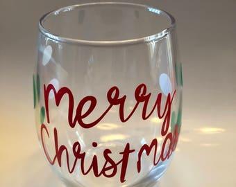 Christmas holiday cheer one glass
