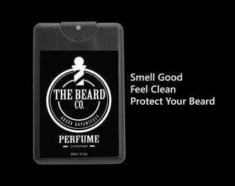 BEARD PERFUME -Citrus Mix Water Based, NO alcohol, 100% Organic Greek Botanicals, Beard Grooming, Beard Care, For him